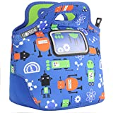 Robot Lunch Bag for Kids | with Name Label Pocket | Insulated Neoprene Tote | by GOPRENE Review