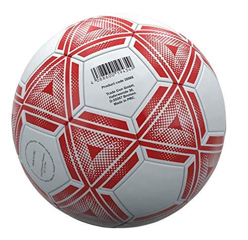 Trade Con Balón de fútbol (talla 5), color blanco y rojo