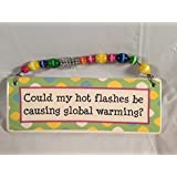 Could My Hot Flashes Be... Hanging Plaque by Tumbleweed Pottery