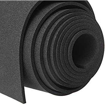 Black Foam Padding Rubber Sheet Self Adhesive Weather
