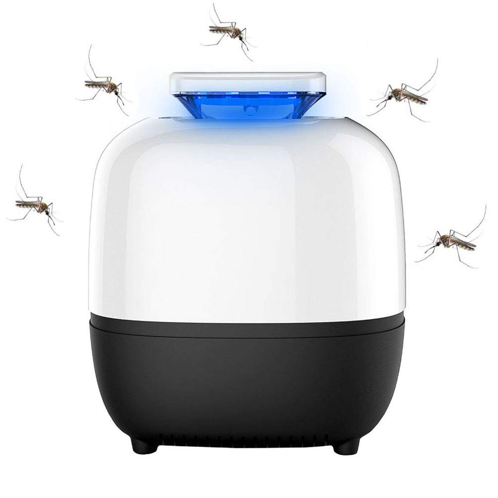 WithoutBonsai LED Mosquito Killer Lamp Insect Trap,USB Electronic Insect Killer Waterproof,Insect Catcher for Bedroom Kitchen Office,WithoutBonsai