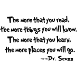 Dr seuss the more that you read wall art vinyl decals letters love kids bedroom wall sayings