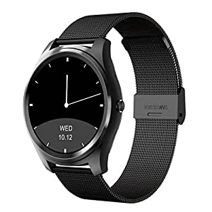 Diggro Bluetooth Smart Watch DI03 MTK2052C Heart Rate Monitor Pedometer Sleep Monitor Microphone Speaker Siri for Android iOS (Sliver)