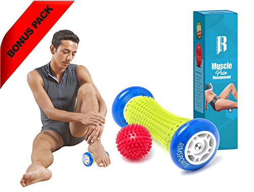 Foot Massage Roller By RIMSports – Ideal Foot Pain Relief Massager -Foot Massager For Heel Spurs – Effective Roller For Feet Roller Massager -Recommended Foot Massager For Runners (Blue)