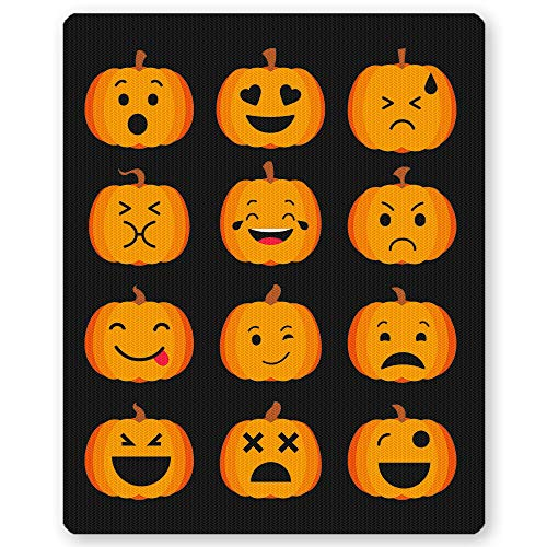 Funny Cute Pumpkin Emoji Emoticon Mousepad for Kids