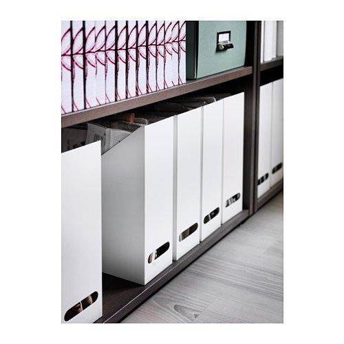 ikea kvissle 2 pack white magazine file holder rack case steel metal structure. Black Bedroom Furniture Sets. Home Design Ideas
