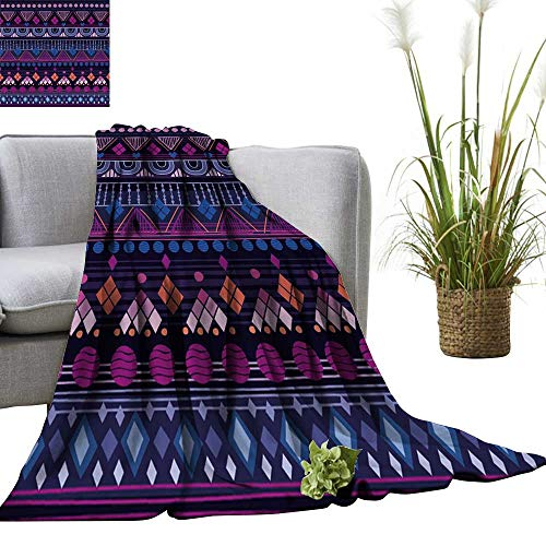 YOYI Super Soft Blanket Tribal Seamless Pattern It can be Used for Cloth,Jackets,Bags,notebooks,Cards,envelopes,Pads Bedsure Flannel 60