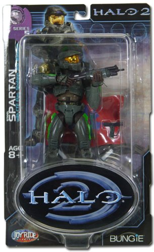 Series Joyride Halo - Halo 2 Action Figure Series 5 Steel Spartan (Random Color Stripes)
