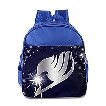 Fairy Tail Anime Logo Platinum Style Kids School Backpack Bag RoyalBlue