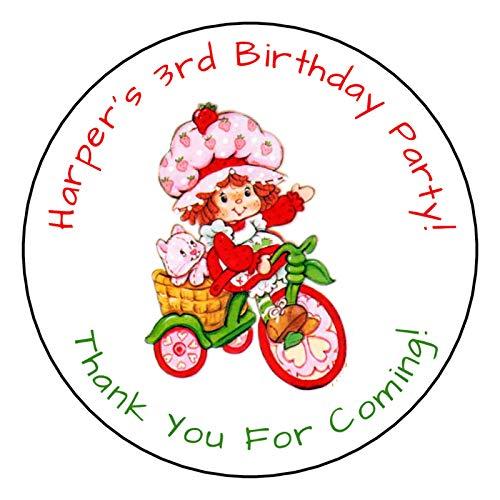 12 Personalized Strawberry Shortcake Birthday Party -