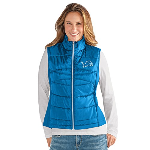 Lion Wings - GIII For Her NFL Detroit Lions Women's Wing Back Vest, Small, Royal