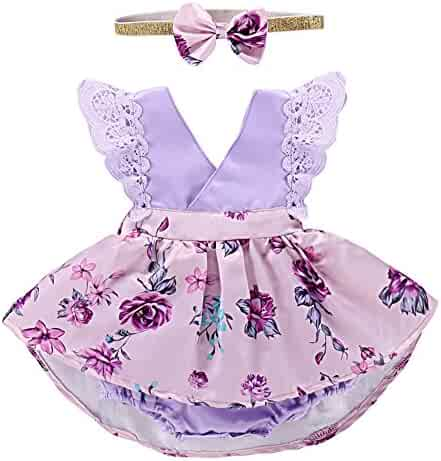 017c8d84f5ef9 Little Big Sister Newborn Baby Toddler Girl Summer Flower Outfits Family  Matching