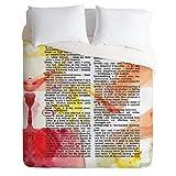 Deny Designs Susanne Kasielke Love Dictionary Art Duvet Cover, King