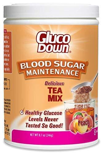 Gluco Down Blood Sugar Maintenance Tea Mix, Peach, 9.5 oz (Pack of 2) ()