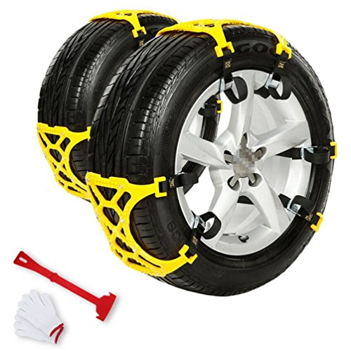 New PrettyFirst Anti Snow Chains of Car Snow Tire Chains Anti Slip Chain Anti-skid Chains Fit for Mo...