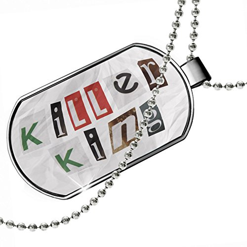 Dogtag Killer King Ransom Blackmail Letter Dog tags necklace - Neonblond