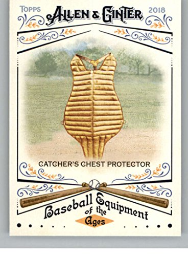 - 2018 Allen and Ginter Baseball Baseball Equipment of the Ages #BEA-13 Catcher's Chest Protector