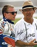 MARK MARTIN & JACK ROUSH DUAL SIGNED 8x10 PHOTO NASCAR LEGENDS BECKETT BAS