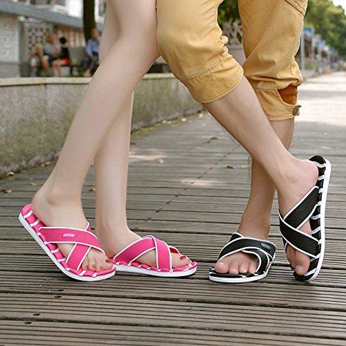 delle da UE per RUGAI con casa fondo plastica antiscivolo pantofole black Ciabatte bagno la donne di maschile donne da pantofole plastica di il fanno 8085 bagno bagno estate che PqEEd