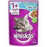 Ração Úmida Whiskas Sachê Peixe ao Molho para Gatos Adultos Castrados 85 g Whiskas para Todas Todos os tamanhos de raça Adulto - Sabor Frutos do mar 85 g