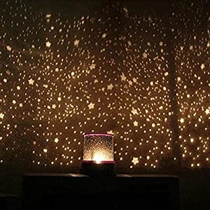 LED Star Night Light Projector Lamp,colorful Bedroom Starry Light,bed Side  Lamp