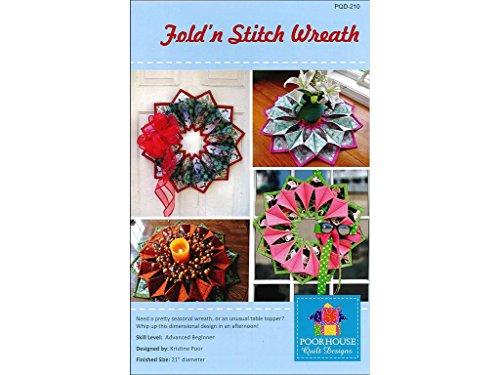 (Poorhouse Quilt Designs Fold'n Stitch Wreath Ptrn)