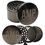 Amp Grinders 2.5 Inch Herb Grinder with Pollen Catcher, Scraper...