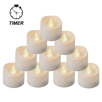 finest selection 57075 d9c54 Homemory Battery Tea Lights with Timer, 6 Hours on and 18 Hours Off in 24  Hours Cycle Automatically, Pack of 12 Timing LED Candle Lights in Warm White