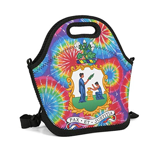 (UHOMEW Lunch Bag Lunch Tote Lunch Box Handbag Saint Vincent and Grenadines National Emblem for Men Women Adults Nurses)