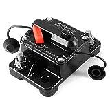 12V/24V/42V DC Circuit Breaker Trolling Motor Auto Car Marine Boat Bike Stereo Audio Inline Fuse Inverter Waterproof with Manual Reset 80A 80Amp