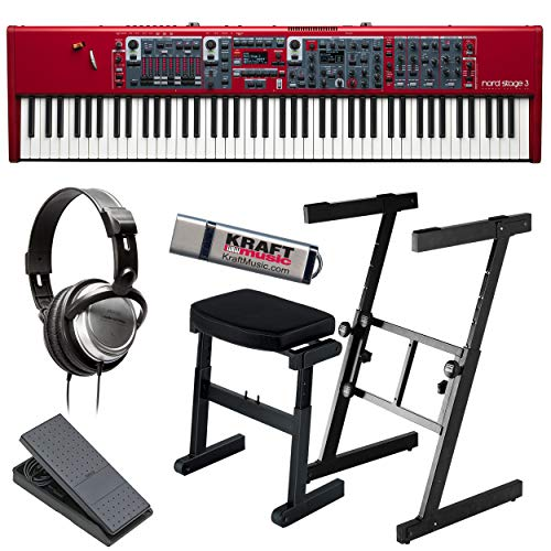 Nord Stage 3 88 with Z-Style Stand, Bench, Expression Pedal, Headphones and Flash Drive