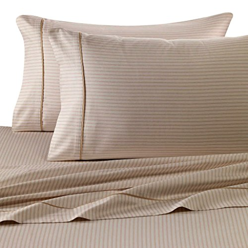 Rajlinen 400 Thread Count 100% Cotton Sheet Set Stripe Printed King 15