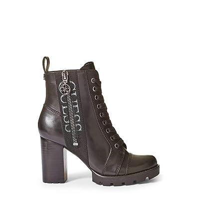 7a14211d026 Guess Bottines en Cuir Remedy Noir  Amazon.fr  Chaussures et Sacs