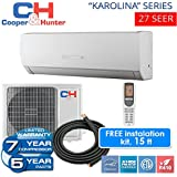 Karolina 27 SEER 9,000 BTU Ductless Mini Split Heat Pump Free 15ft Line Set with WiFi Energy Star