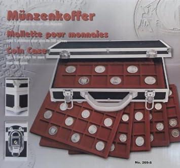 Safe Alu Münzkoffer 269 8 Black Edition Mit 6 Roten Tableaus Für