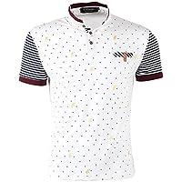BT.classics Men's Cotton Short Sleeve Polka Dot Polo Shirts Slim Fit