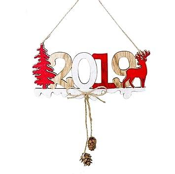 Deko Weihnachten 2019.2019 Weihnachten Neujahr Tür Dekoration Hängen Anhänger