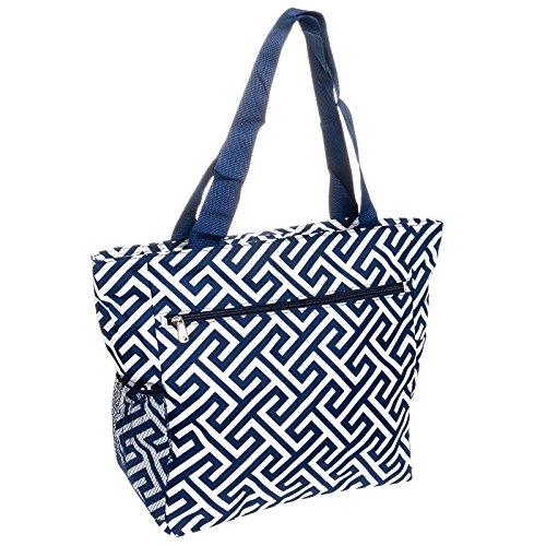 Greek Key Travel Tote Bag