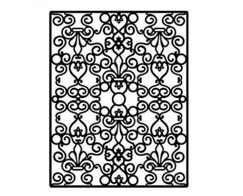 Spellbinders Impressabilities Template to Emboss/Deboss, Floral & Stone