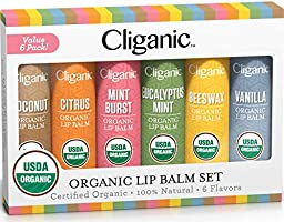 Cliganic USDA Organic Lip Balm - 100% Natural Lip Butter Chapstick for Cracked & Dry Lips