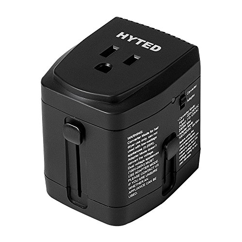HYTED 2000Watts Travel Adapter and Converter - 220V to 110V Step Down Transformer for Hair Dryer Laptop Cell Phone All in One International Power Plug Adapters US AU UK European Over 150 Countries