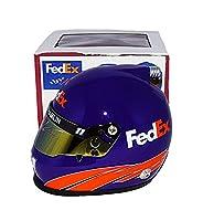 AUTOGRAPHED 2017 Denny Hamlin #11 FedEx Racing Toyota Driver (Joe Gibbs Team) Monster Energy Cup Series Signed Lionel NASCAR Replica Mini Helmet with COA from Trackside Autographs