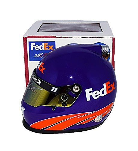 AUTOGRAPHED 2017 Denny Hamlin #11 FedEx Racing Toyota Driver (Joe Gibbs Team) Monster Energy Cup Series Signed Lionel NASCAR Replica Mini Helmet with COA