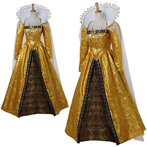 [CosplayDiy Women's Stand Collar Medieval Victorian Dress Ball Gowns XXXL] (Medieval Fancy Dress Plus Size)