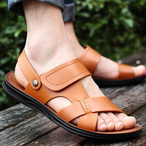 Black Summer Marée Les Pantoufles Chaussures De Plage, Occasionnel, Hommes, Non Glissants.,Eu43Cn44,White