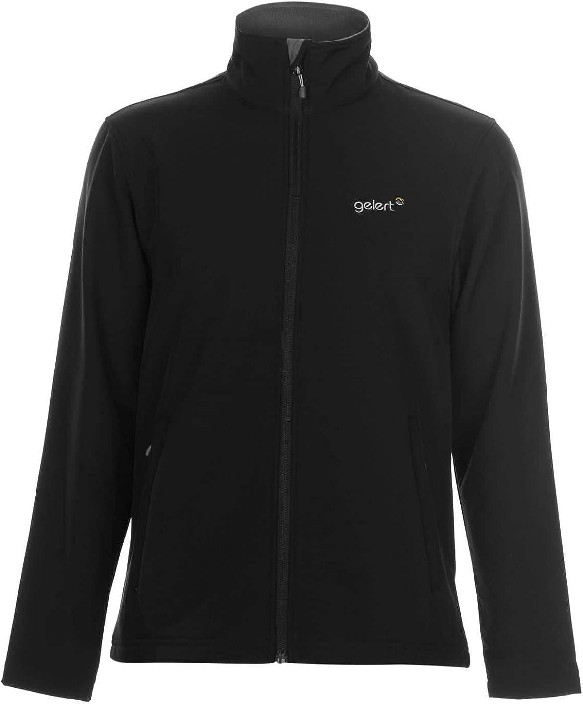 Gelert Mens Softshell Jacket Coat Top Long Sleeve Zip Warm