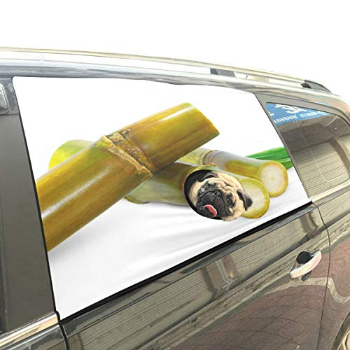 Liaosax Beautiful Fragrant Aloe Foldable Pet Dog Safety Car Printed Window Fence Curtain Barriers Protector for Baby Kid Adjustable Flexible Sun Shade Cover Universal Fit for SUV