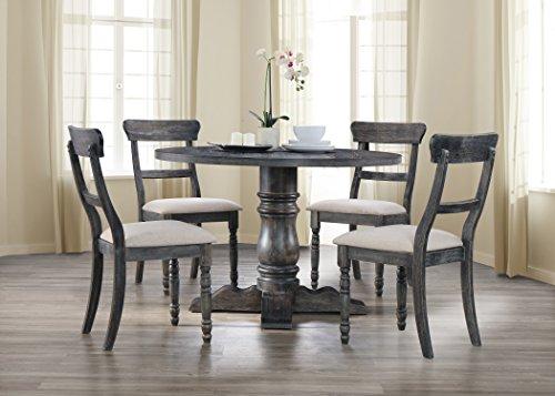 Best Master Furniture Selena 5 Pcs Dining Set, Weathered Gray