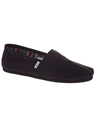 de05d94a99 Amazon.com | TOMS Men's Classic Canvas Slip On (11.5 M US, Black ...