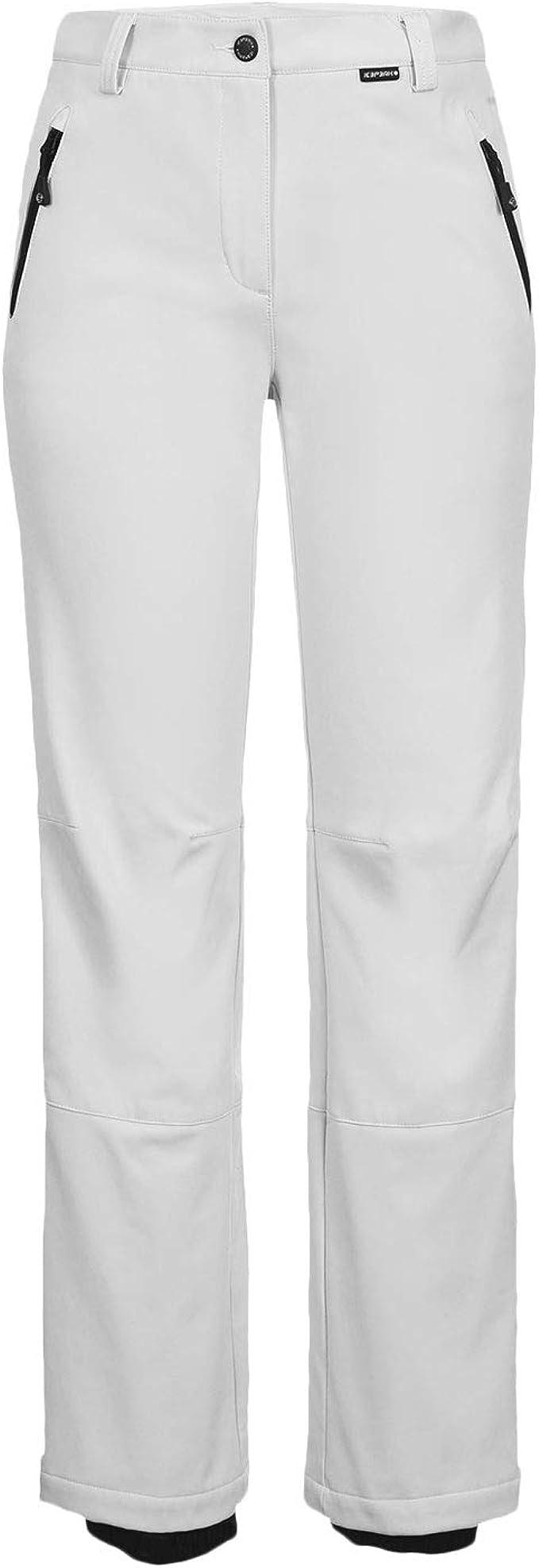 Womens WHITE STRETCH SKI PANTS by ICE PEAK Riksu trouser pant REG LEG
